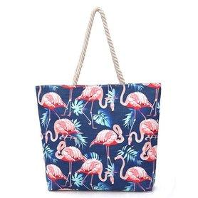 Torba materiałowa zamek TP04WZ2 granat flamingi