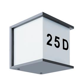 Lampa Numer domu MAXIM E27 GREY