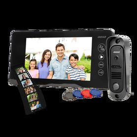 Zestaw wideodomofonowy bezsłuchawkow, pin hole OR-VID-JS-1053/B