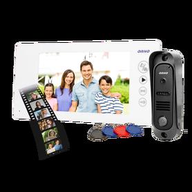 Zestaw wideodomofonowy bezsłuchawkow, pin hole OR-VID-JS-1053/W