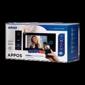 Zestaw wideodomofonowy dotykowy, menu OSD, WI-FI OR-VID-WI-1068/B