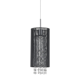 Lampa Zwis kryształki Czarna LANA ITALUX MDM1787/1