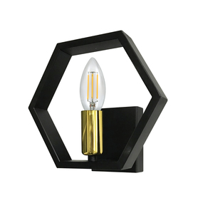 Kinkiet lampa ścienna HONEY E14 czarny złoty