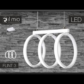 Lampa wisząca FLINT 3 LED 2100lm 34W 3000K biała
