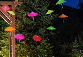Lampki solarne Polux PARASOLKI kolorowe 10