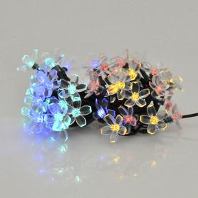 Lampki solarne Polux FLOWER 50 LED