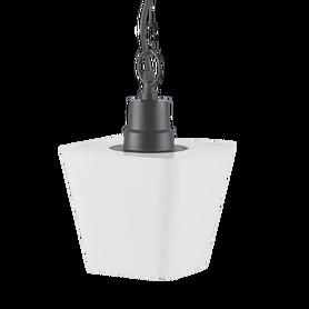 Lampa ogrodowa wisząca zwis GIZA czarna/biała E27