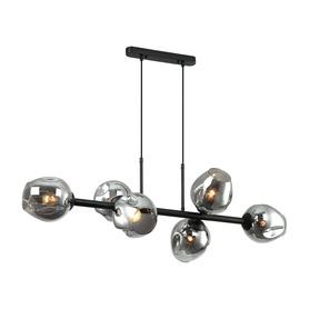 Żyrandol nowoczesny Borgo 6xE27 LAMPA WISZĄCA BK