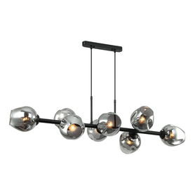Żyrandol nowoczesny Borgo 8xE27 LAMPA WISZĄCA BK