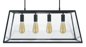 Lampa FINLAND CZARNA 4XE14