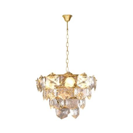Lampa Żyrandol Nowoczesny DIANA GOLD 6xE14 (1)