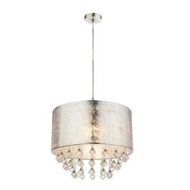 Lampa żyrandol Globo AMY srebna Kryształki 15188H3