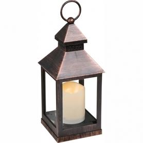 Lampion stołowa lampka Globo Fanal 1x0,05W LED 3xAAA miedziany 28192-12