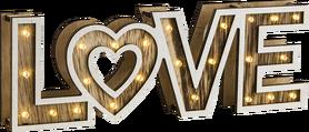 lampa oprawa stołowa ścienna napis LOVE LED  Globo