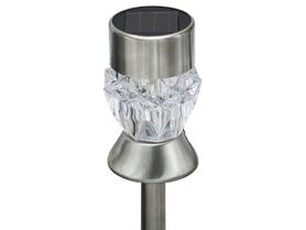 Ogrodowa lampa solarna LED POLUX CRYSTAL KRYSZTAŁEK biały +RGB