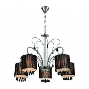 Lampa żyrandol Saintes 5 satyna (1)