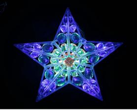 Ozdoba Gwiazda LED ozdoba okienn 16L z zasilaczem