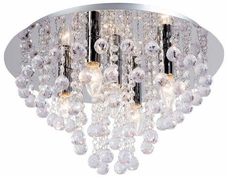 Lampa Plafon LONDON kryształki 5xE14 (1)