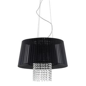 Lampa Żyrandol Nowoczesny Kryształki LUISA MDM1935-3 BK