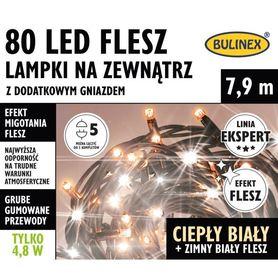 LAMPKI FLESZ LED80L DOD.GNIAZ.CIEPŁ