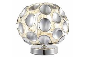 Lampka nocna stołowa ONTARIO Chrom 18 cm