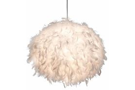Lampa wisząca zwis DUCKY E27 Białe piórka 40cm