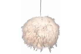 Lampa wisząca zwis DUCKY E27 Białe piórka 30cm