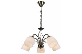 Lampa wisząca Alice 5 pł patyna 117105-04 Żyrandol