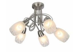 Lampa sufitowa Vidal 5 pł nikiel mat 631605-07